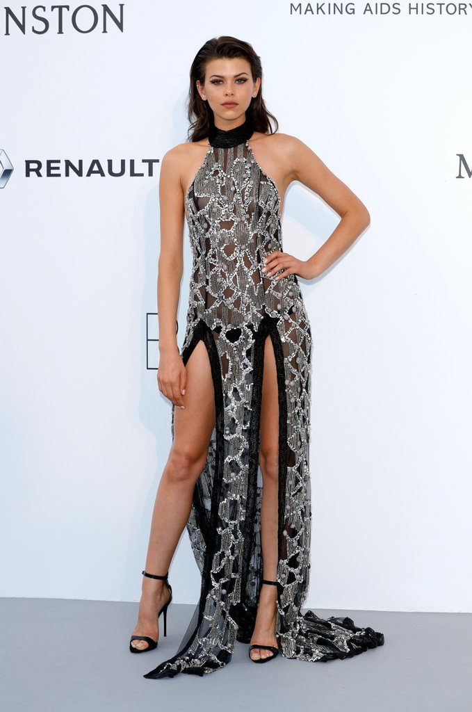 Georgia Fowler at the amfAR Gala, Cannes 2017.