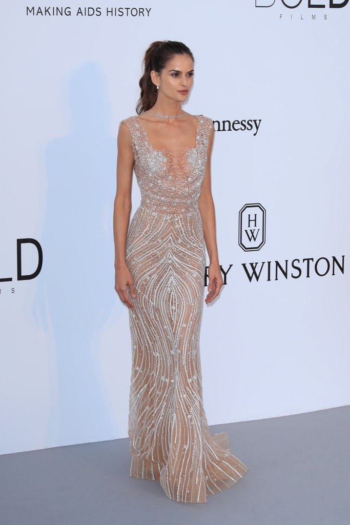 Izabel Goulart in Zuhair Murad at the amfAR Gala, Cannes 2017.