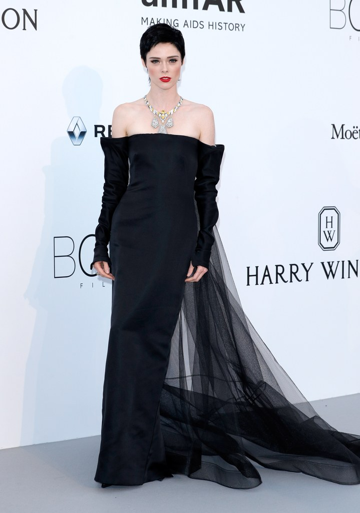 Coco Rocha in Jean Paul Gaultier at the amfAR Gala, Cannes 2017.
