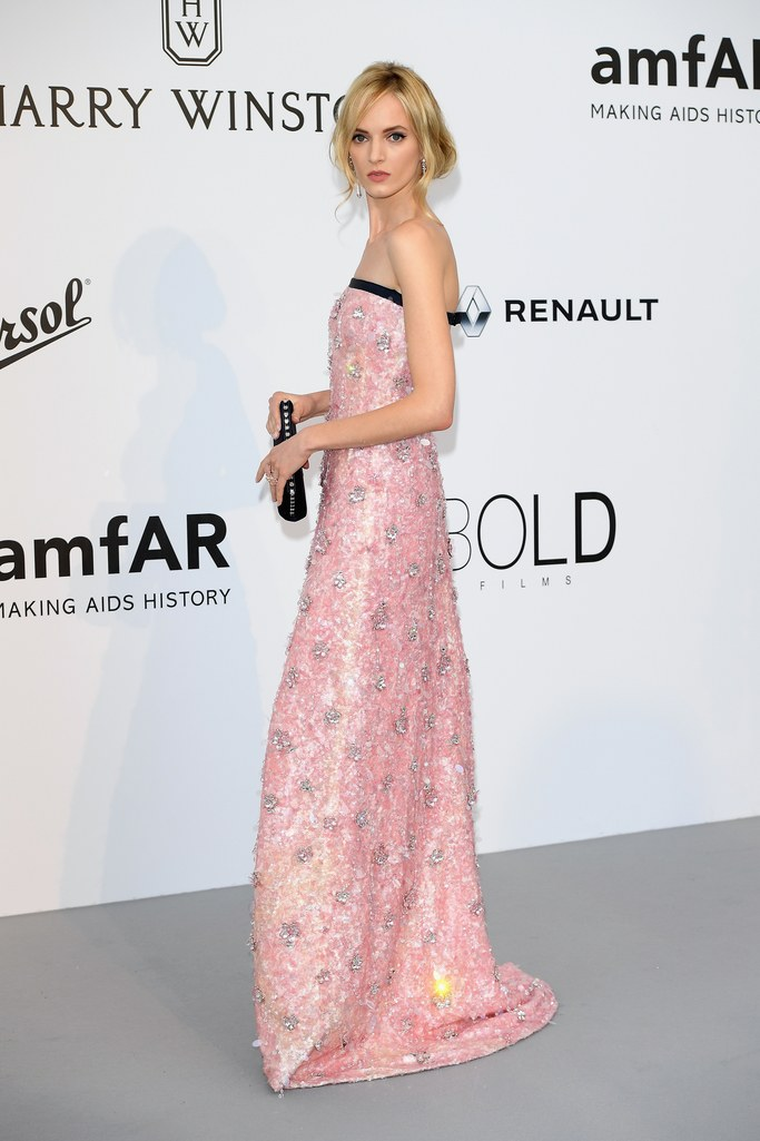 Daria Strokous at the amfAR Gala, Cannes 2017.
