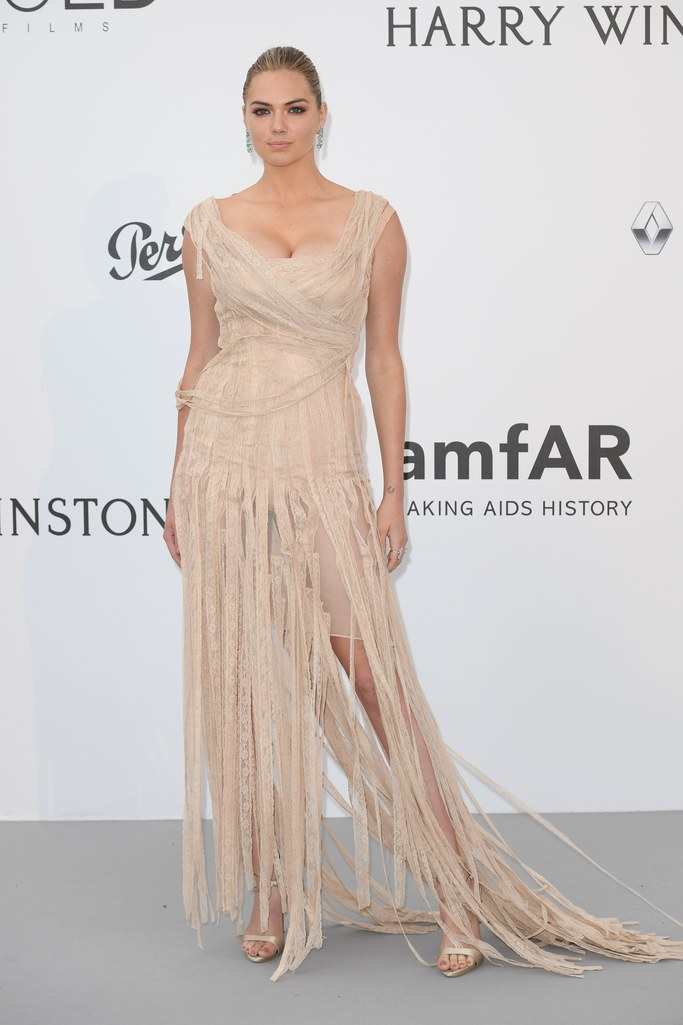Kate Upton in Dolce & Gabbana at the amfAR Gala, Cannes 2017.