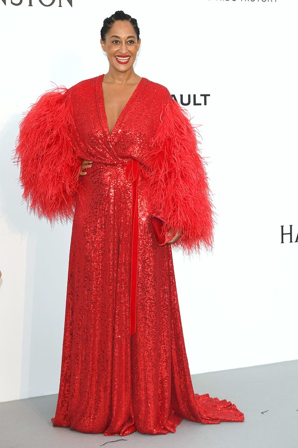 Tracee Ellis Ross in Jenny Packham at the amfAR Gala, Cannes 2017.