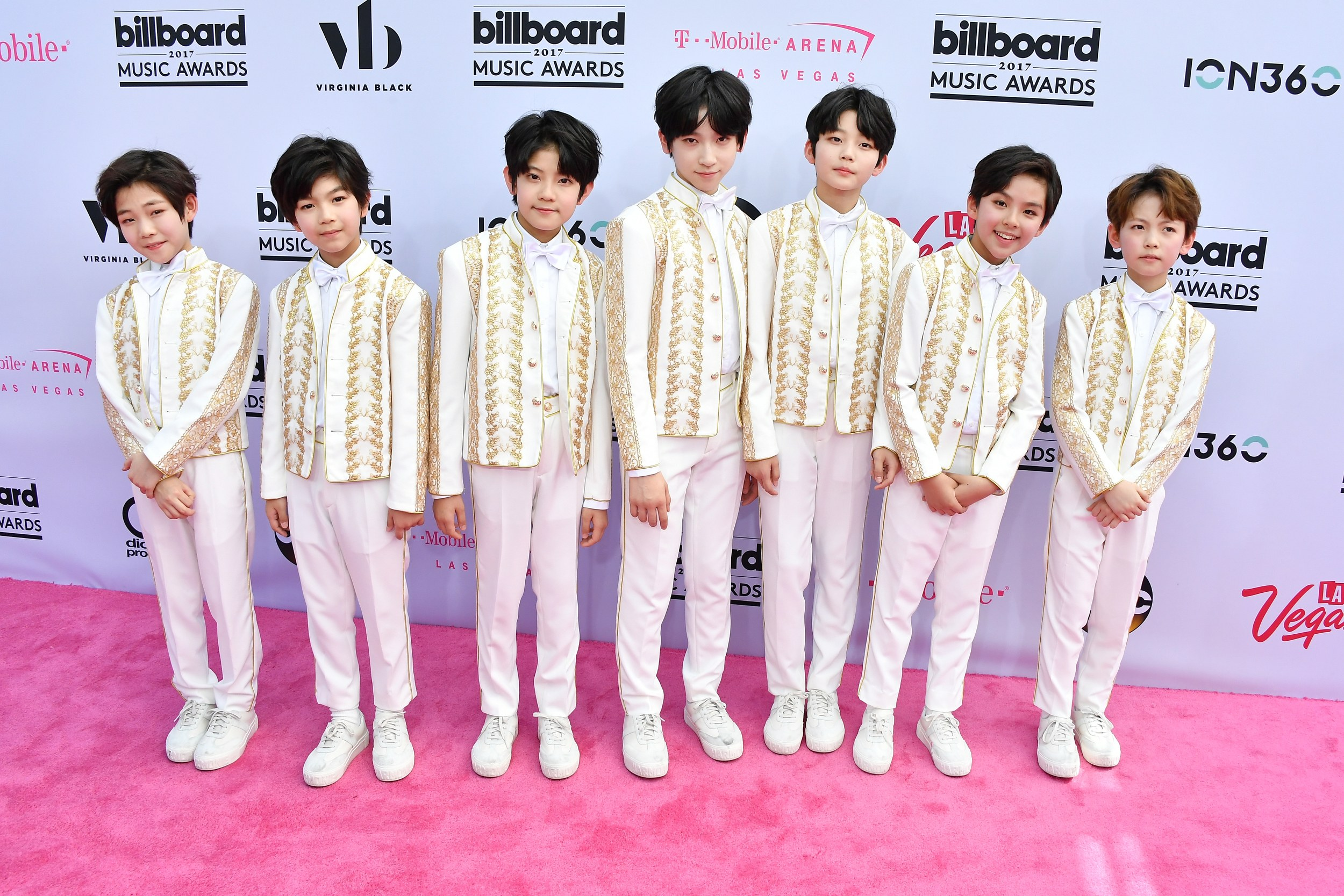 Chinese boy group YHat the 2017 Billboard Music Awards