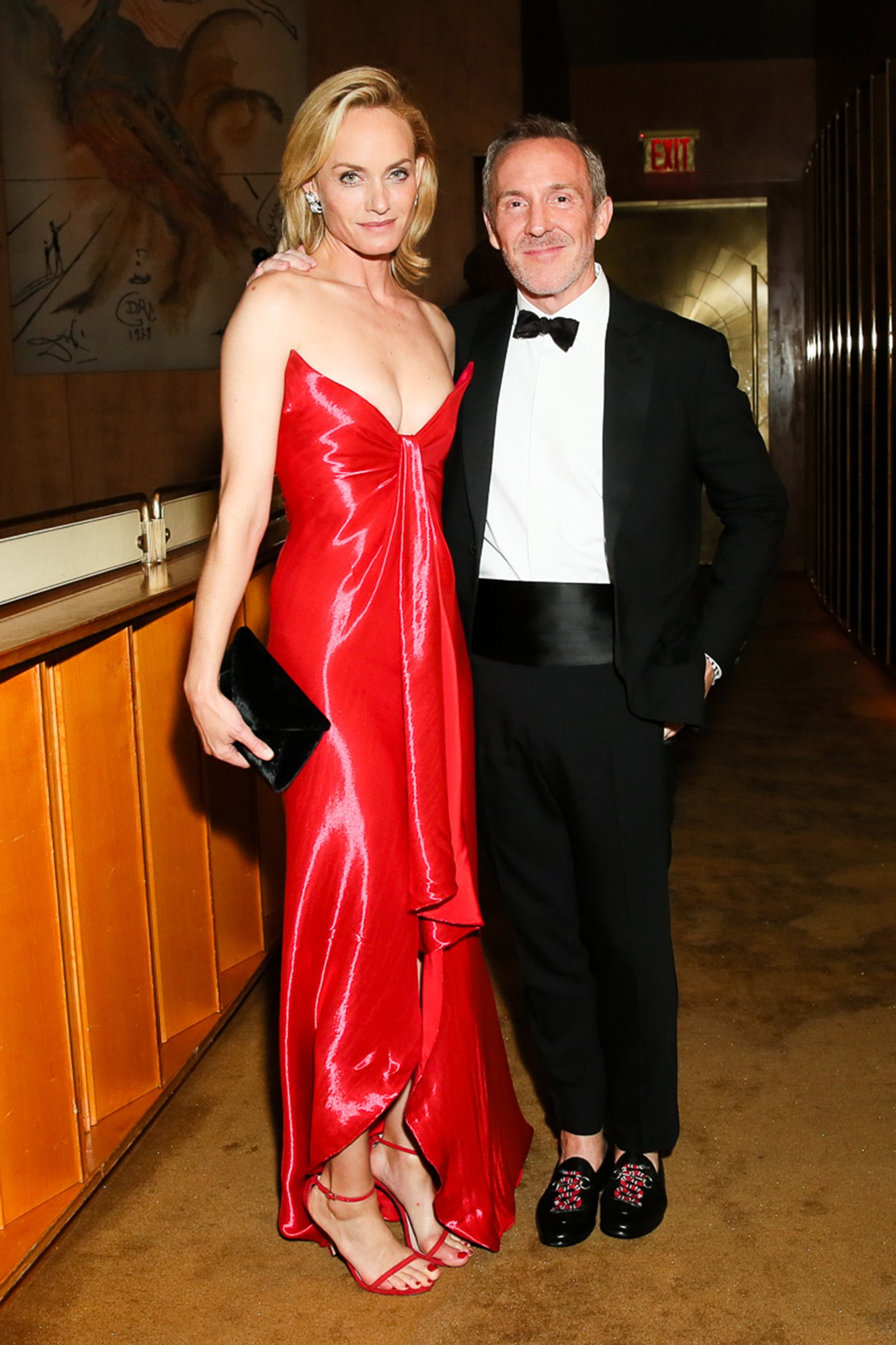 Amber Valletta and Trey Lair at the CFDA Awards After-party at the Top of the Standard.