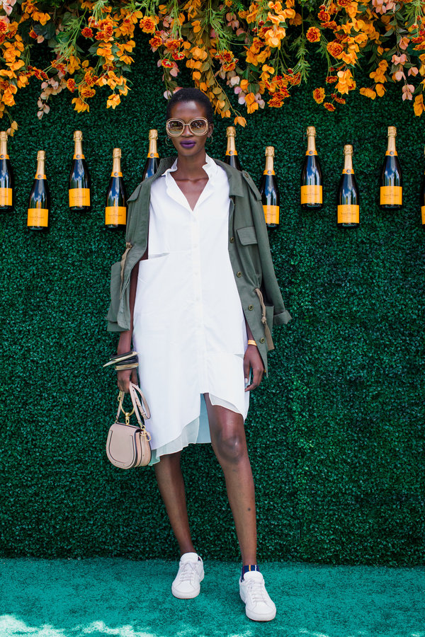 Aamito Lagum at the 2017 Veuve Clicqout Polo Classic.