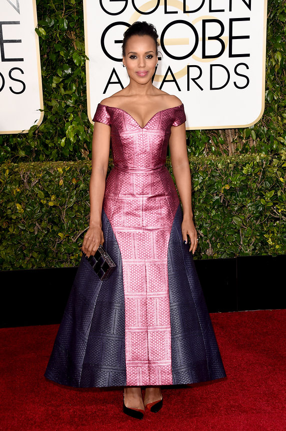 Kerry Washington in a Mary Katrantzou gown and Neil Lane jewellry