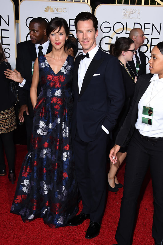 Sophie Hunter in an Erdem gown and Neil Lane jewellry